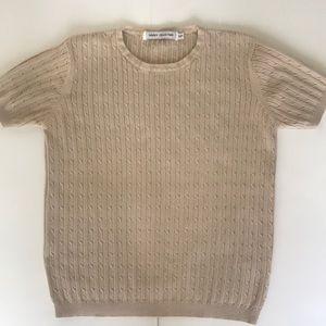Cream women's jersey top